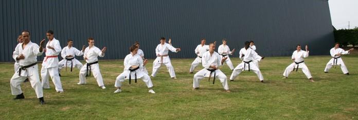Séance de karate – Dieppe 2010