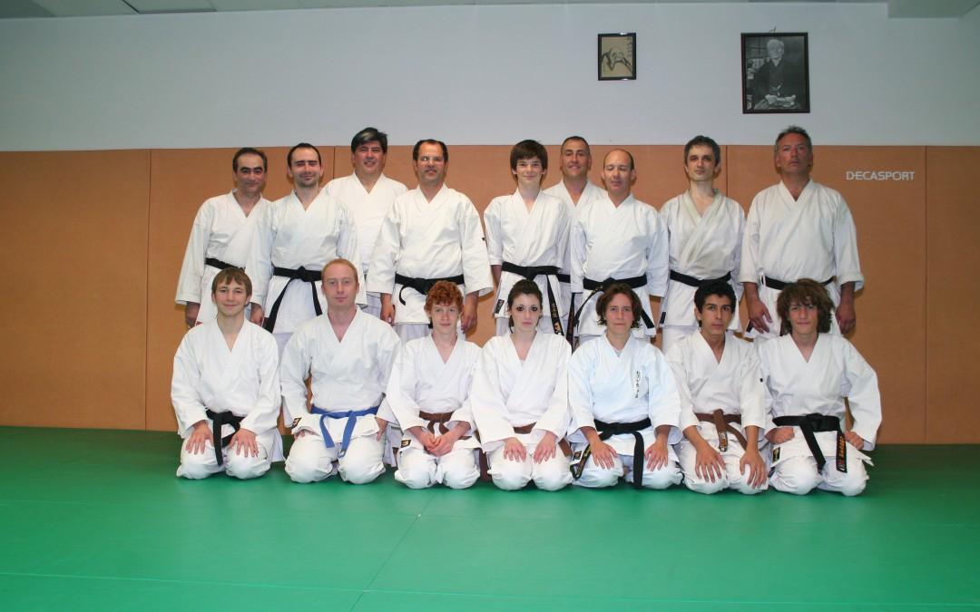groupe adultes karate 2010