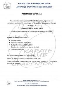 Assemblée Générale Kcch - 7 fev 2020